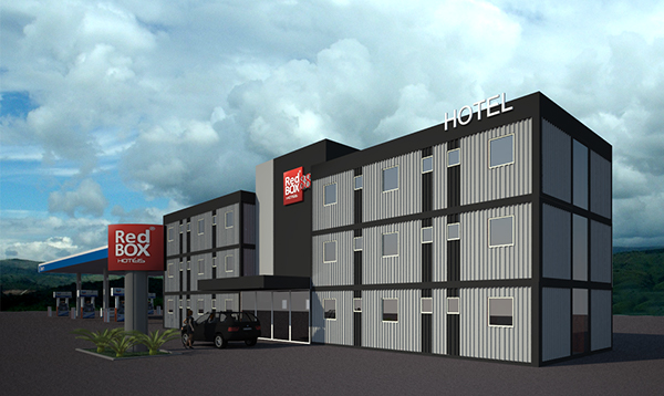 jual hotel container gedung